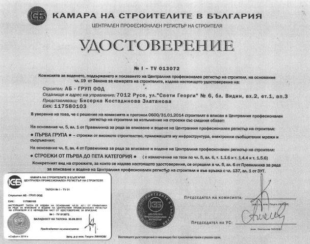 UDOSTOVERENIYA КСБ1